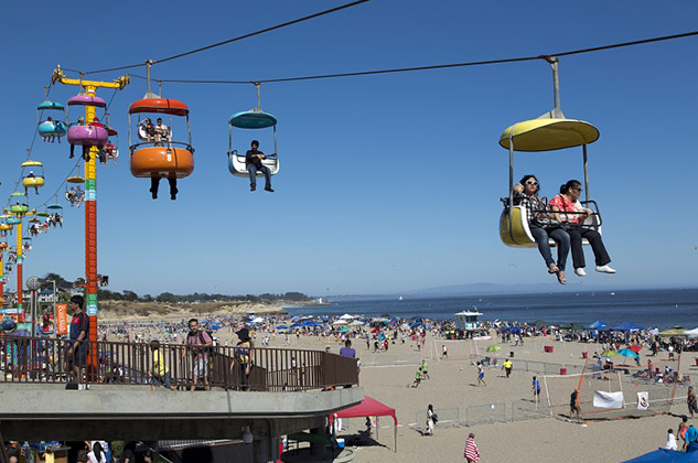 Santa Cruz California Beach Boardwalk Amusement Park