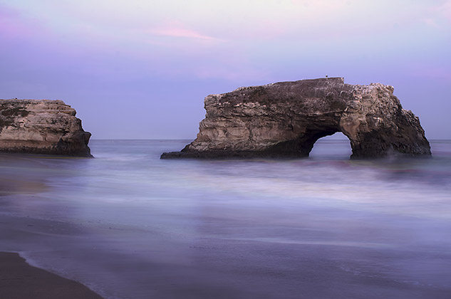 Santa Cruz California Natural Bridges Beach